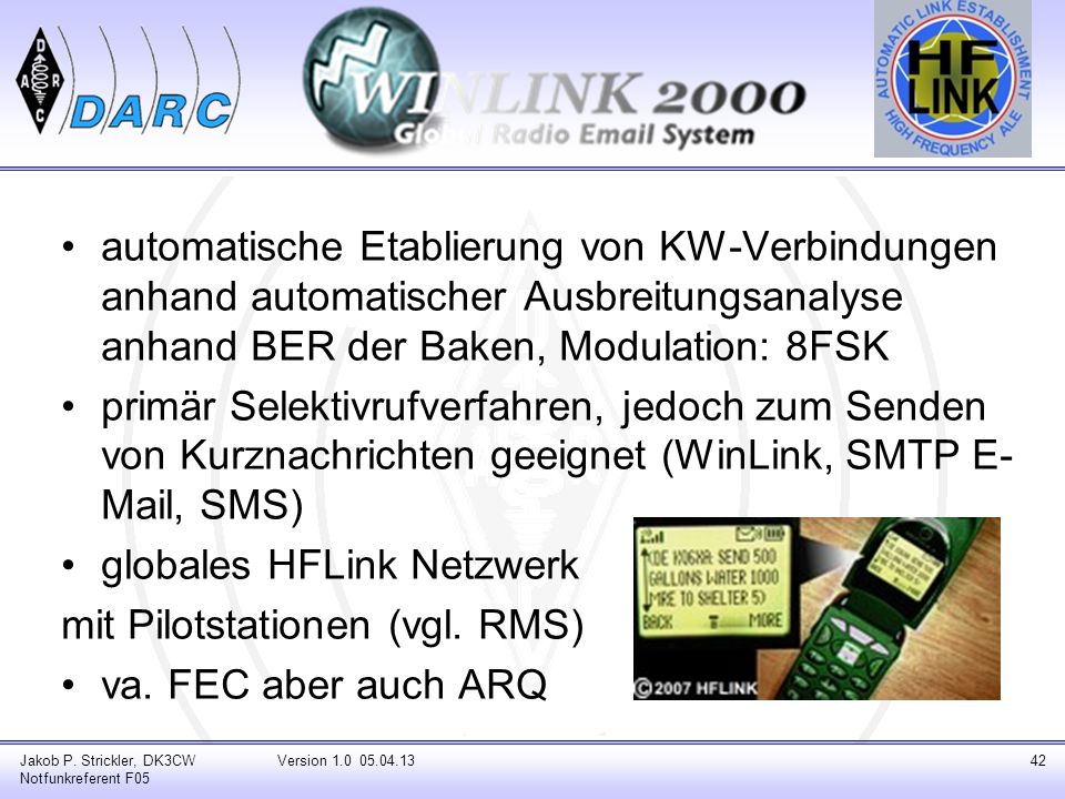 globales HFLink Netzwerk mit Pilotstationen (vgl. RMS)