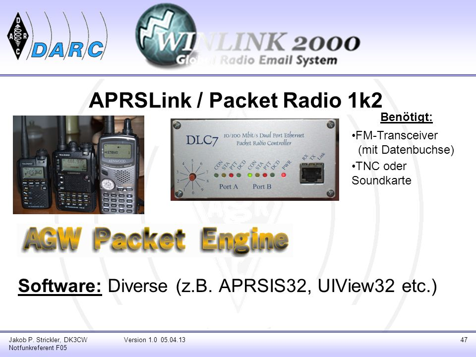 APRSLink / Packet Radio 1k2