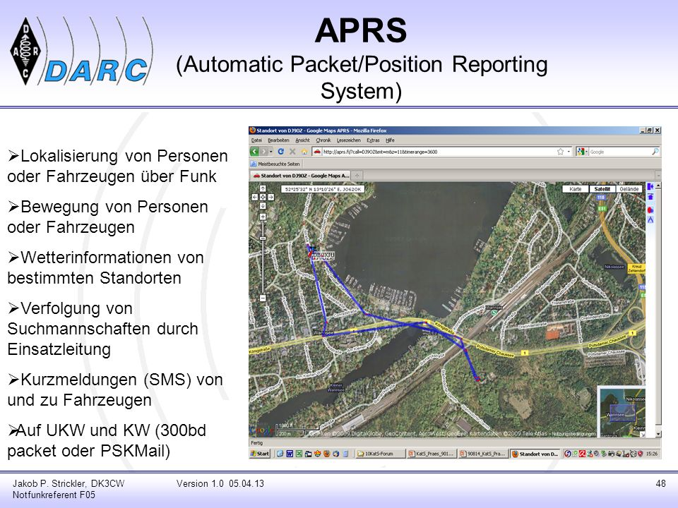 APRS (Automatic Packet/Position Reporting System)