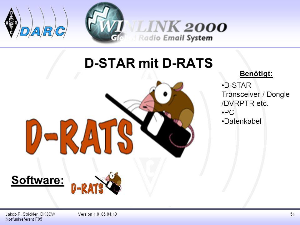 D-STAR mit D-RATS Software: Benötigt:
