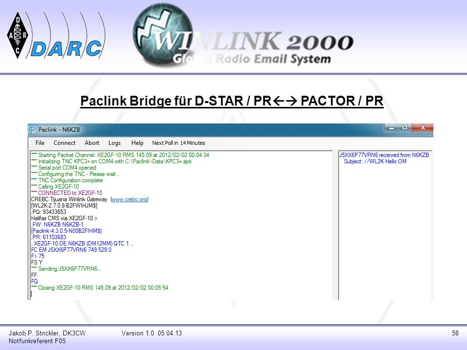 Paclink Bridge für D-STAR / PR PACTOR / PR