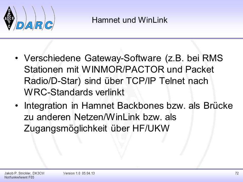 Hamnet und WinLink