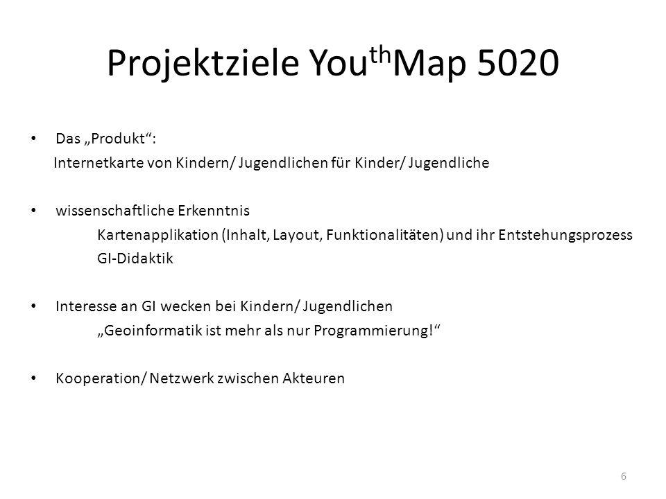 Projektziele YouthMap 5020