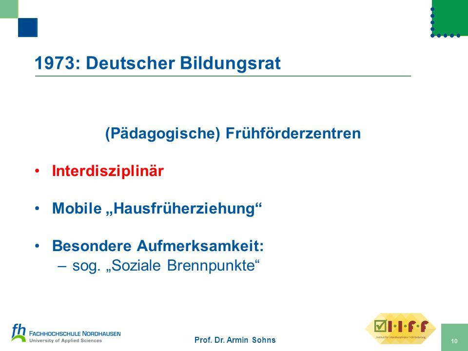 1973: Deutscher Bildungsrat