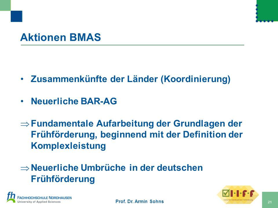 Aktionen BMAS Zusammenkünfte der Länder (Koordinierung)