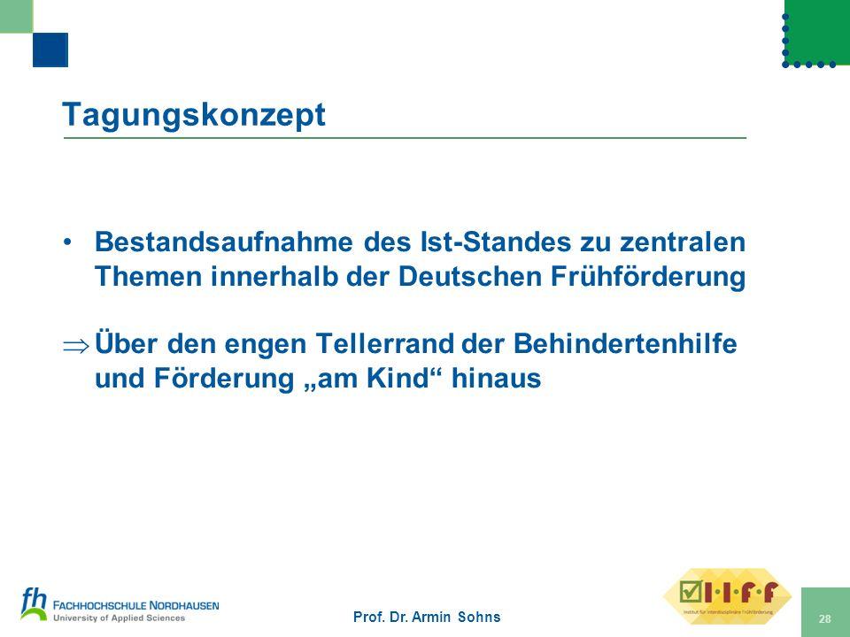 Tagungskonzept Bestandsaufnahme des Ist-Standes zu zentralen Themen innerhalb der Deutschen Frühförderung.