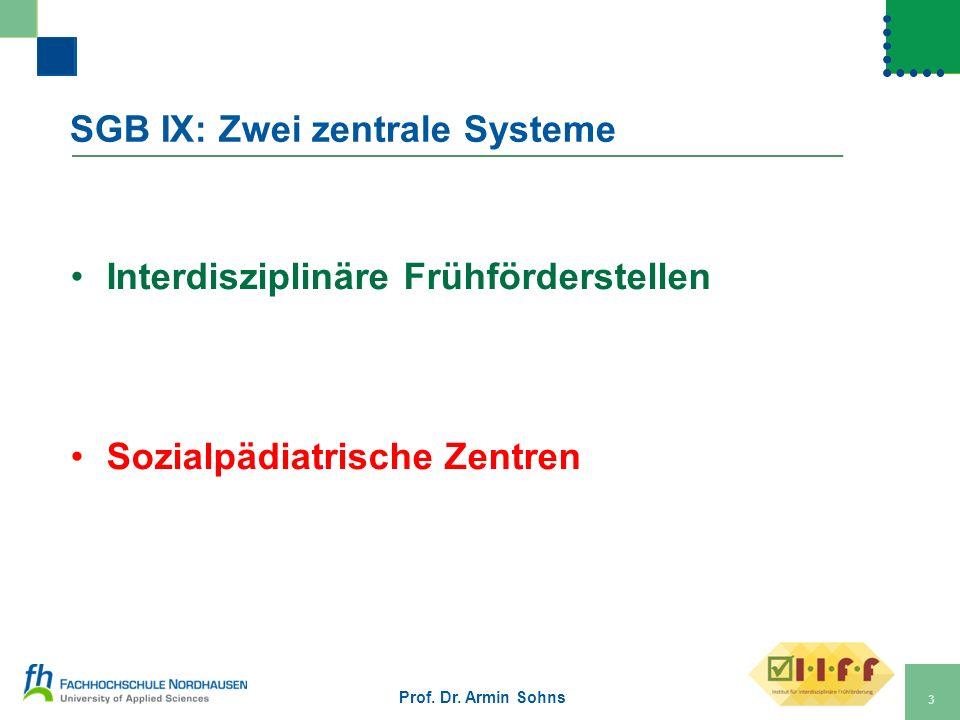 SGB IX: Zwei zentrale Systeme