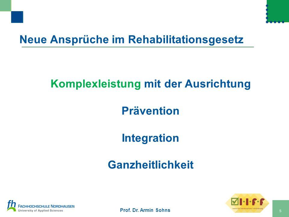 Neue Ansprüche im Rehabilitationsgesetz
