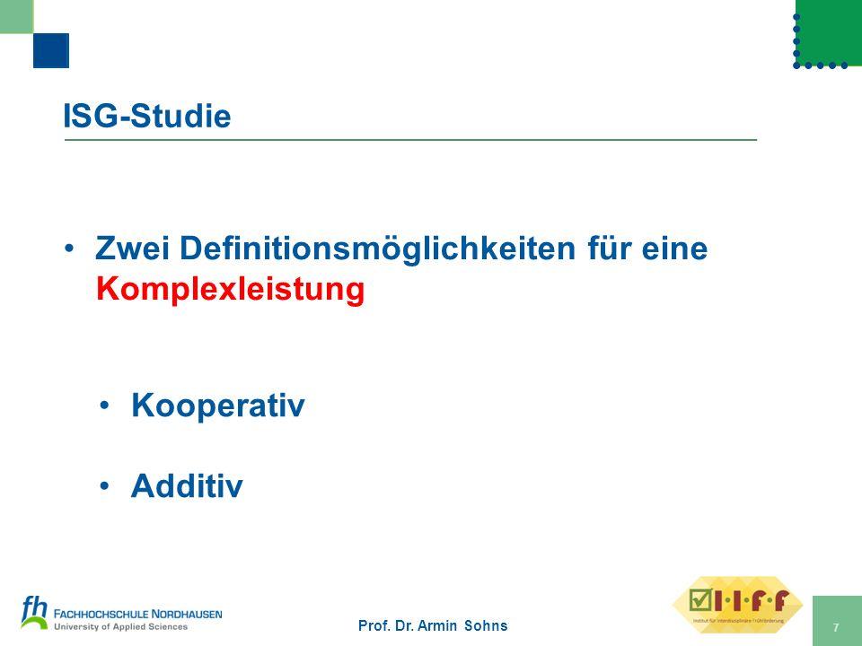 Zwei Definitionsmöglichkeiten für eine Komplexleistung