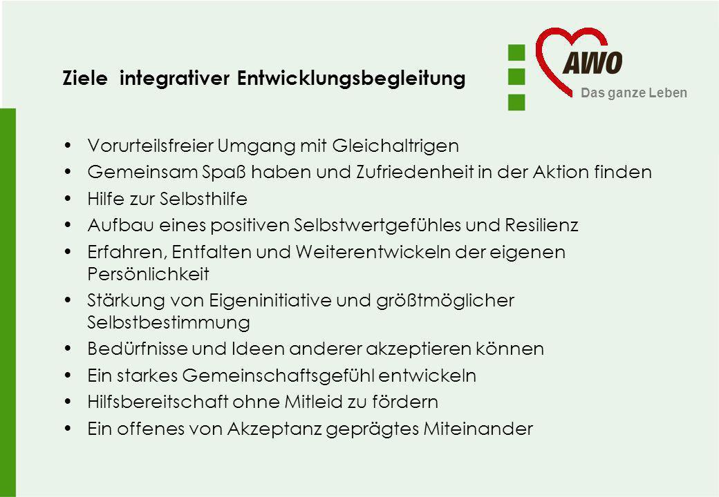 Ziele integrativer Entwicklungsbegleitung
