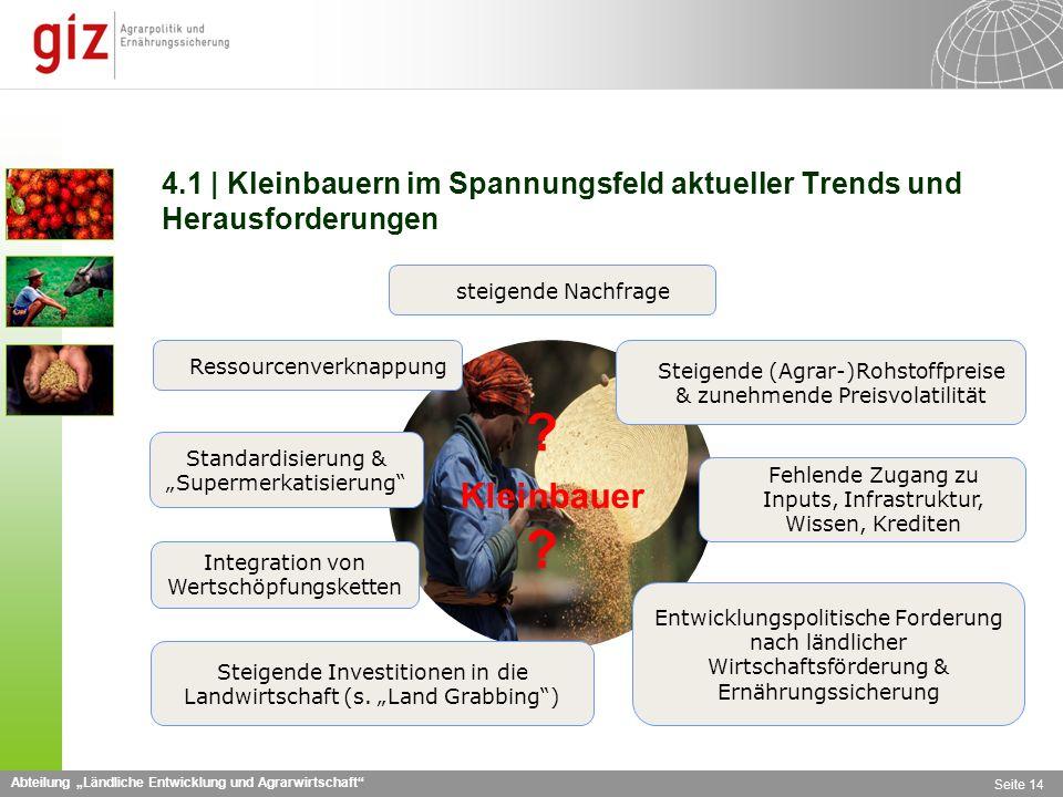 4.1 | Kleinbauern im Spannungsfeld aktueller Trends und Herausforderungen