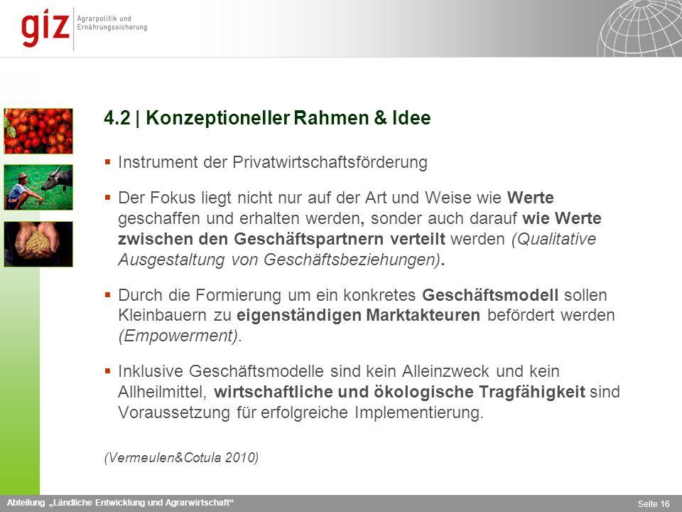 4.2 | Konzeptioneller Rahmen & Idee