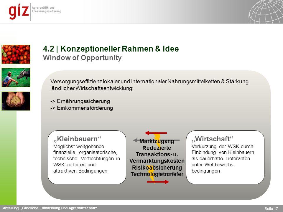 4.2 | Konzeptioneller Rahmen & Idee Window of Opportunity