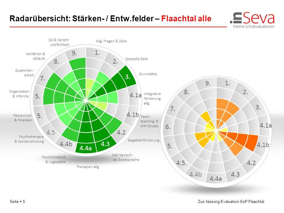 Radarübersicht: Stärken- / Entw.felder – Flaachtal alle