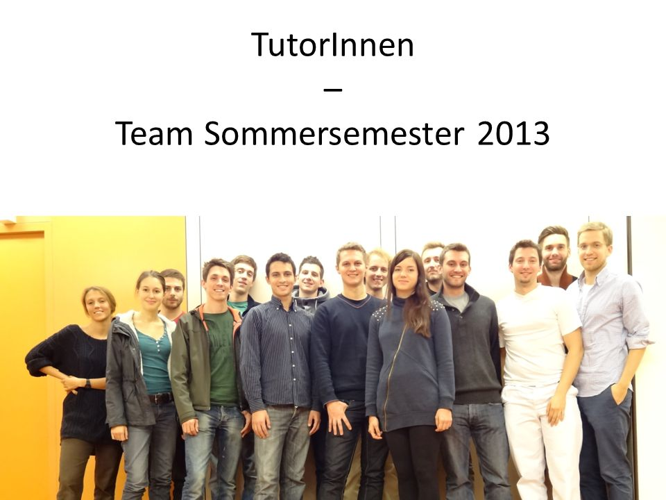 TutorInnen – Team Sommersemester 2013