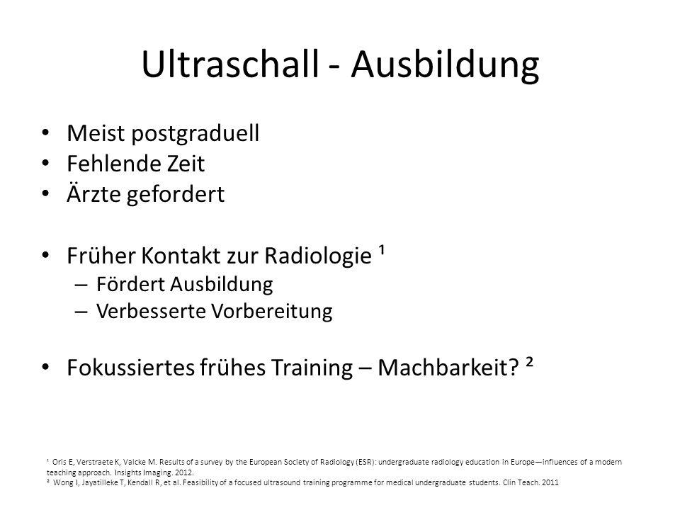 Ultraschall - Ausbildung
