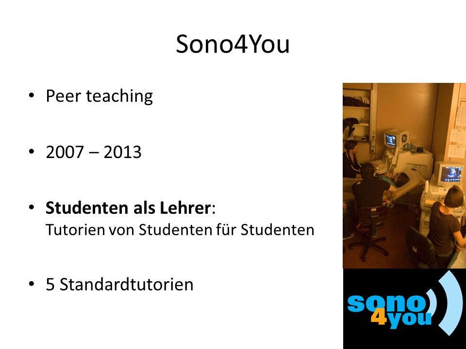 Sono4You Peer teaching 2007 – 2013