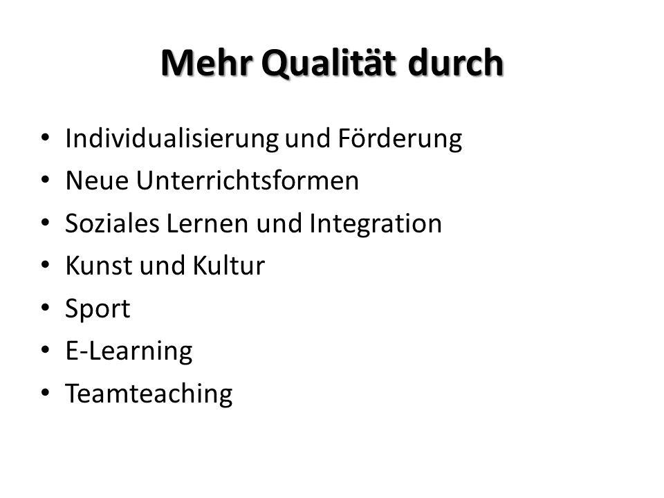 Mehr Qualität durch Individualisierung und Förderung