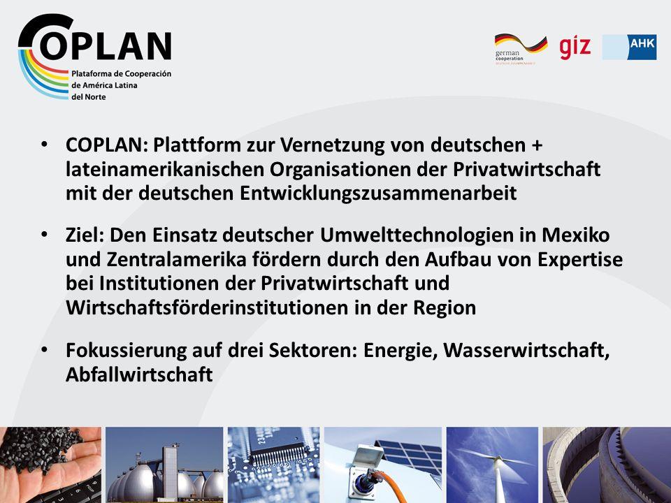 COPLAN: Plattform zur Vernetzung von deutschen + lateinamerikanischen Organisationen der Privatwirtschaft mit der deutschen Entwicklungszusammenarbeit