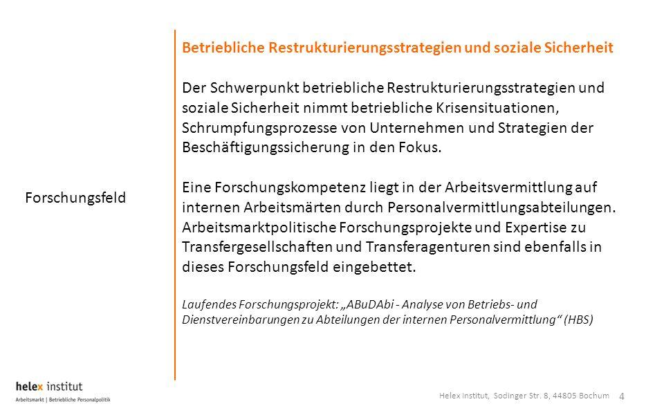 Betriebliche Restrukturierungsstrategien und soziale Sicherheit