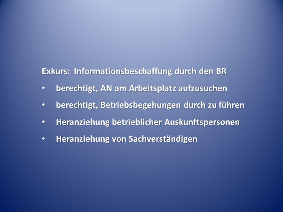 Exkurs: Informationsbeschaffung durch den BR