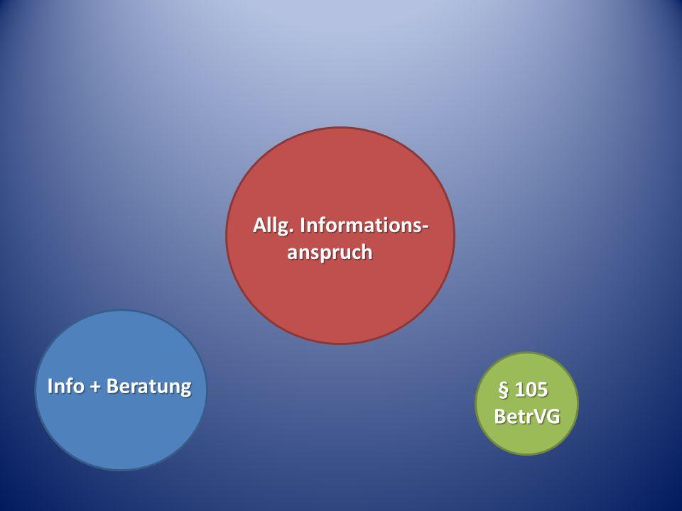Allg. Informations- anspruch