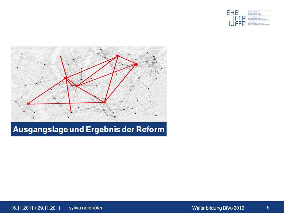 Ausgangslage und Ergebnis der Reform