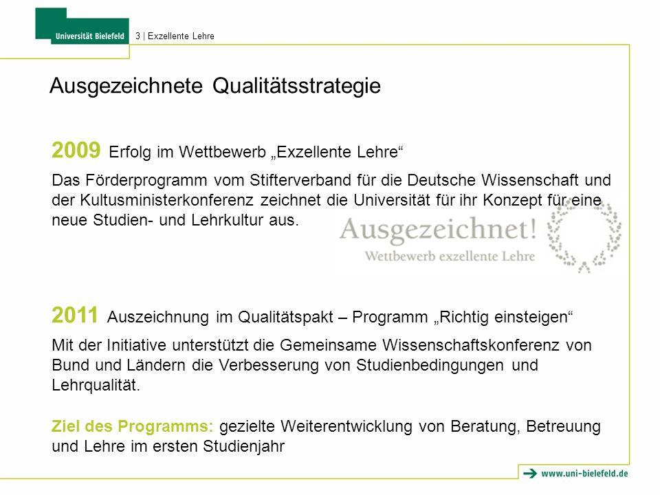 """2009 Erfolg im Wettbewerb """"Exzellente Lehre"""