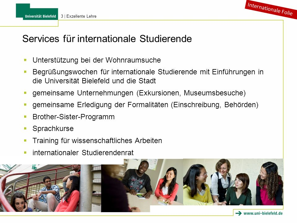 Services für internationale Studierende