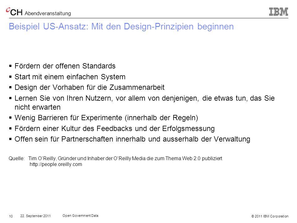 Beispiel US-Ansatz: Mit den Design-Prinzipien beginnen