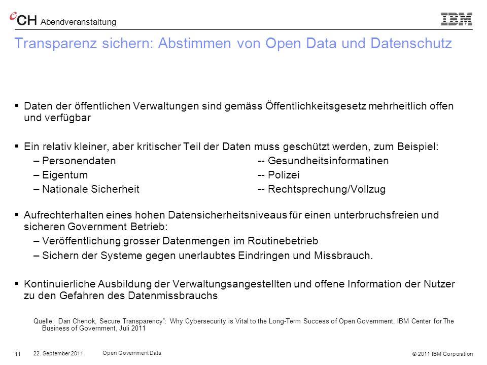 Transparenz sichern: Abstimmen von Open Data und Datenschutz
