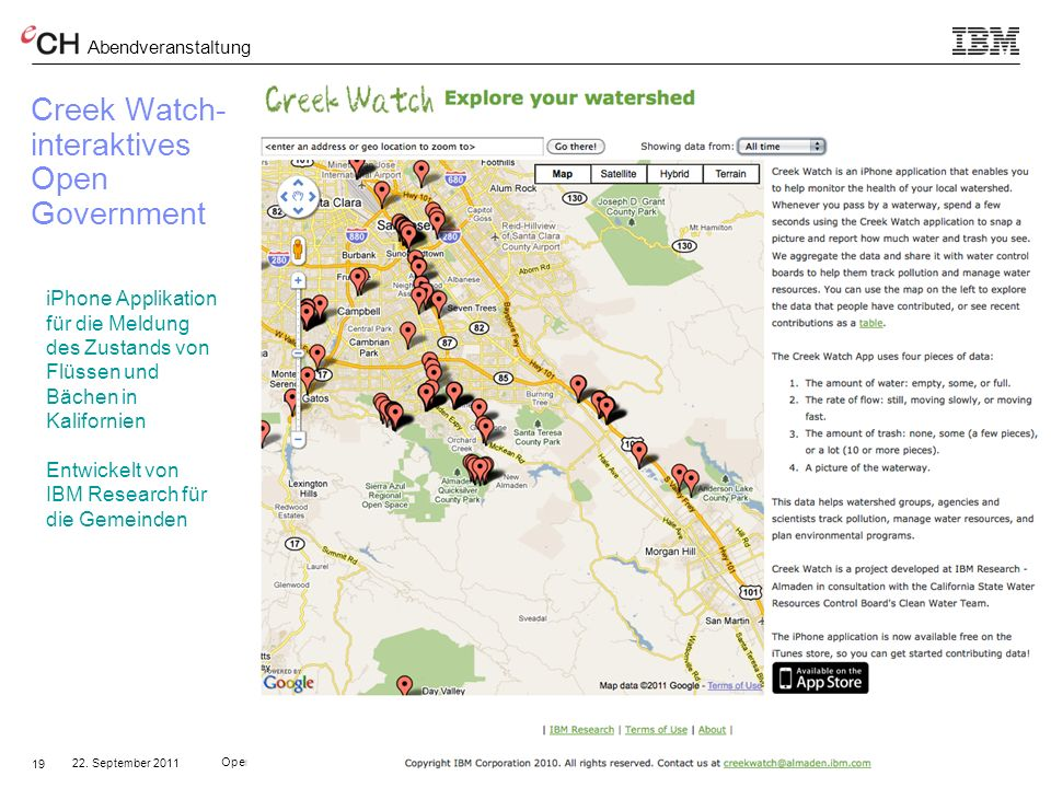 Creek Watch- interaktives Open Government