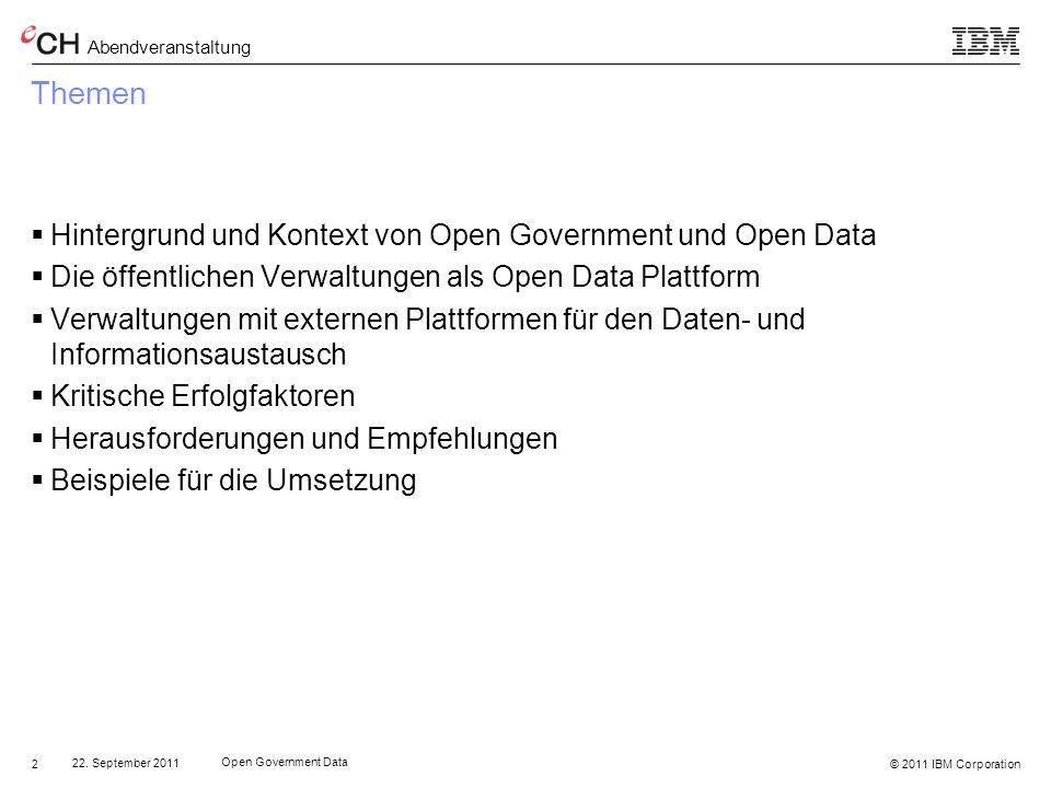 Themen Hintergrund und Kontext von Open Government und Open Data