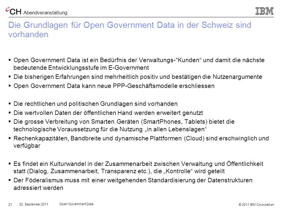 Die Grundlagen für Open Government Data in der Schweiz sind vorhanden