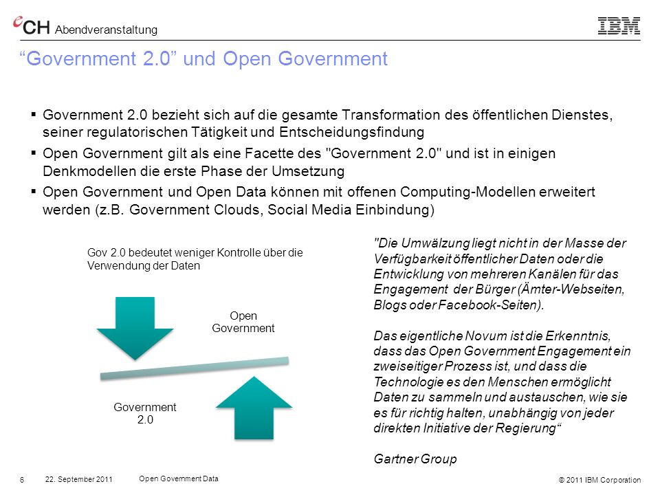 Government 2.0 und Open Government