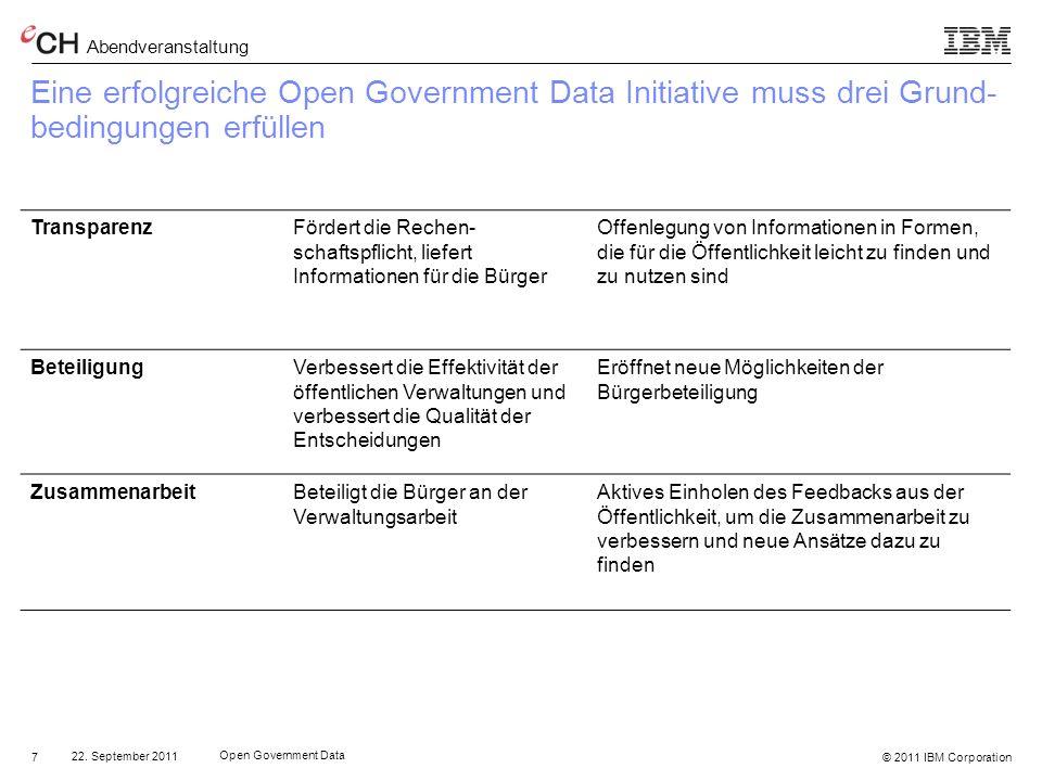Eine erfolgreiche Open Government Data Initiative muss drei Grund-bedingungen erfüllen