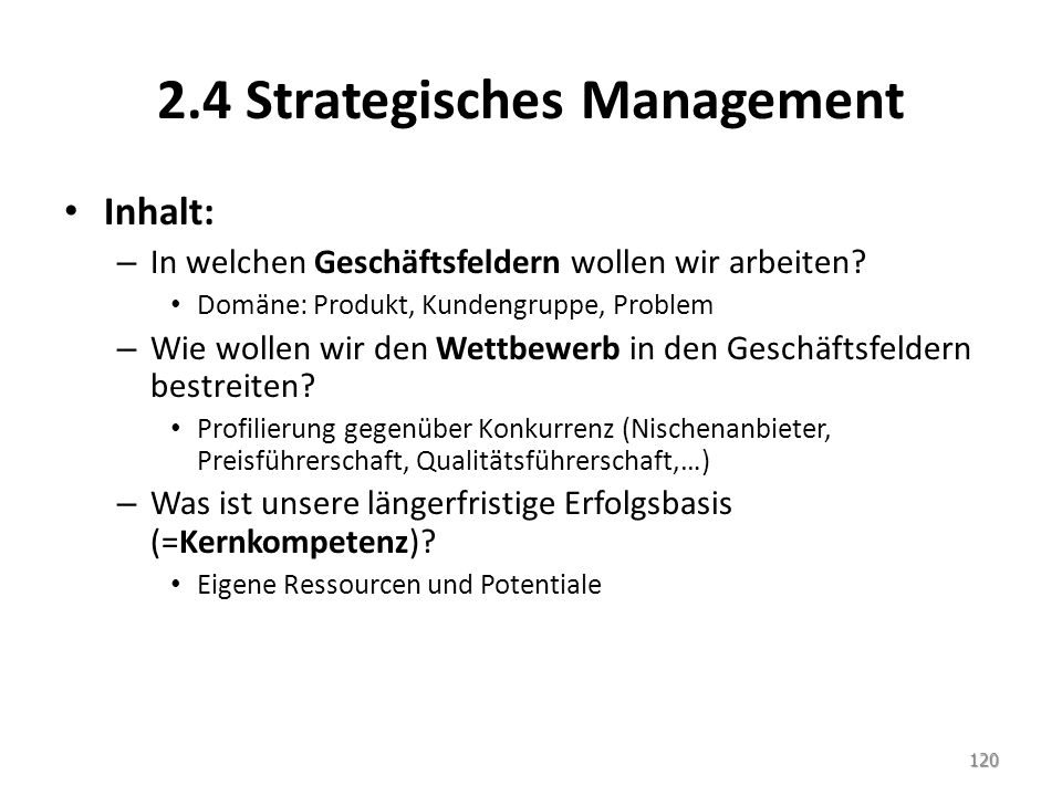 2.4 Strategisches Management