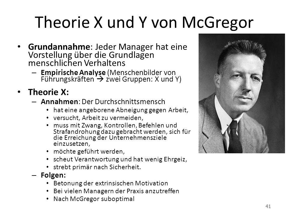 Theorie X und Y von McGregor