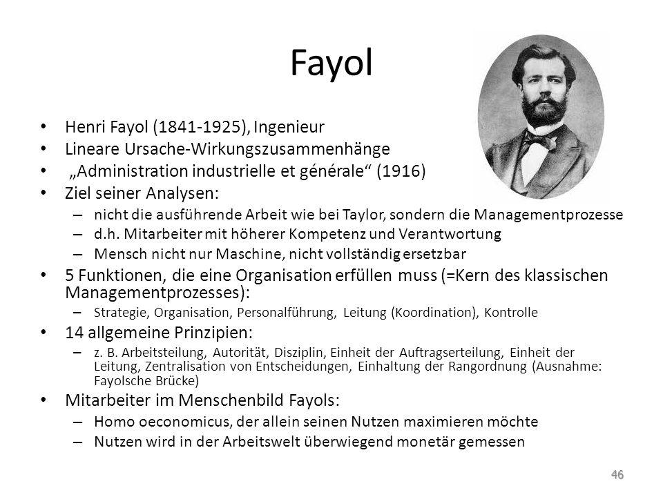 Fayol Henri Fayol (1841-1925), Ingenieur