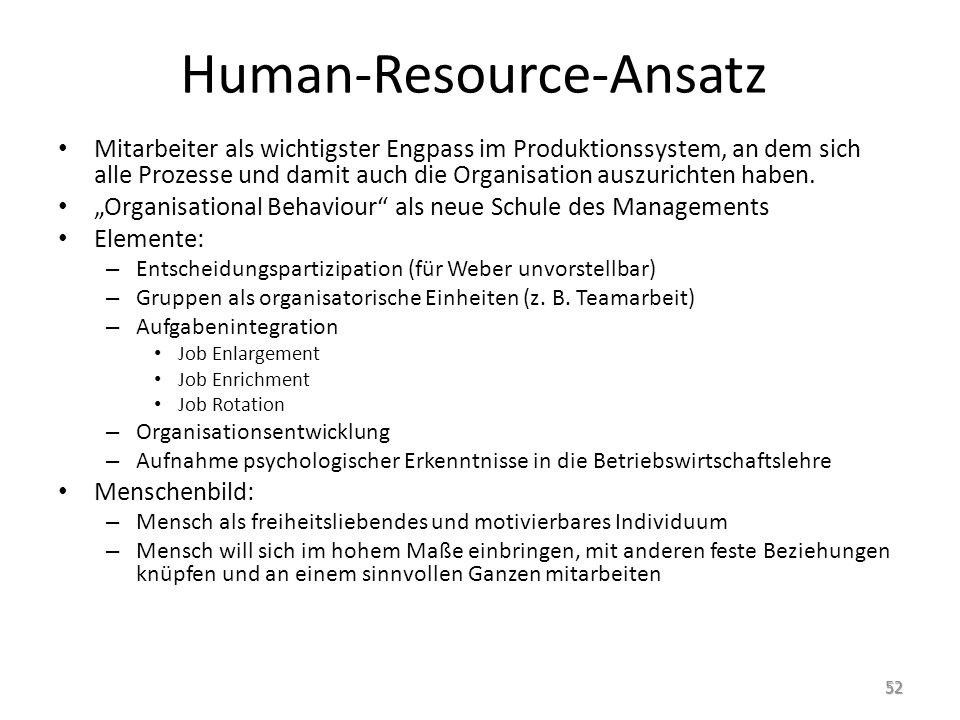 Human-Resource-Ansatz