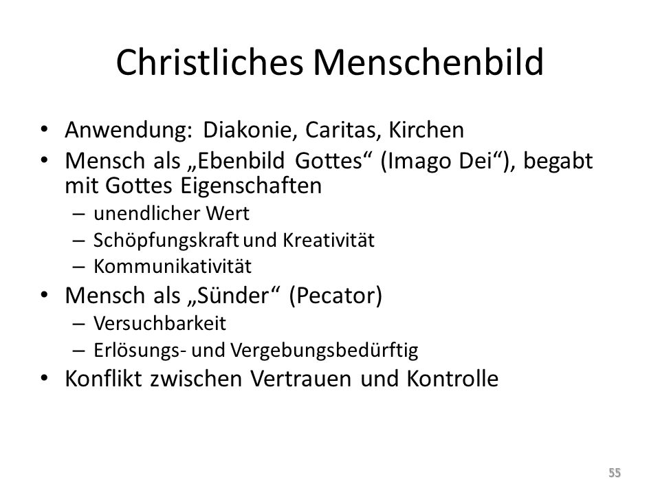 christliches menschenbild definition