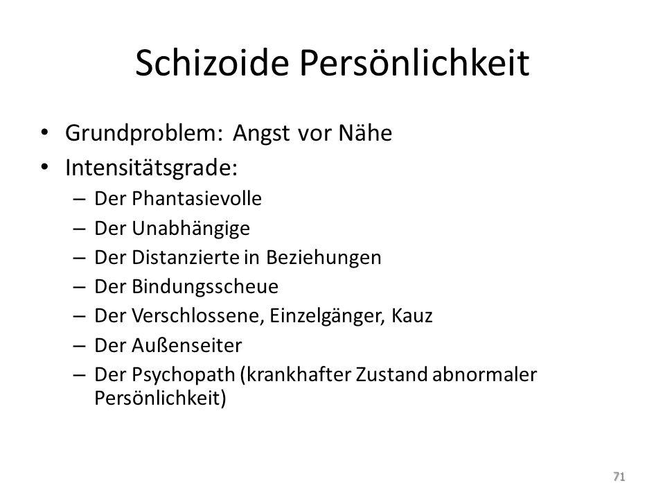 Schizoide Persönlichkeit