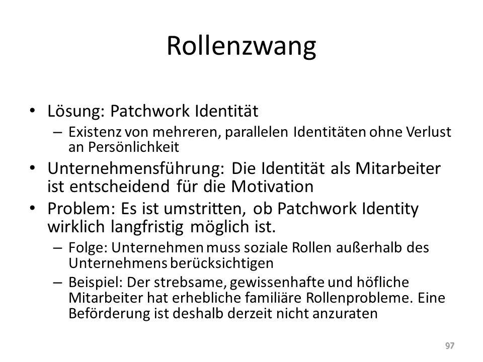 Rollenzwang Lösung: Patchwork Identität