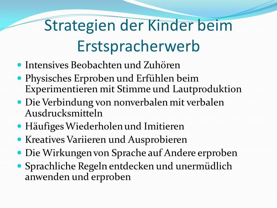 Strategien der Kinder beim Erstspracherwerb