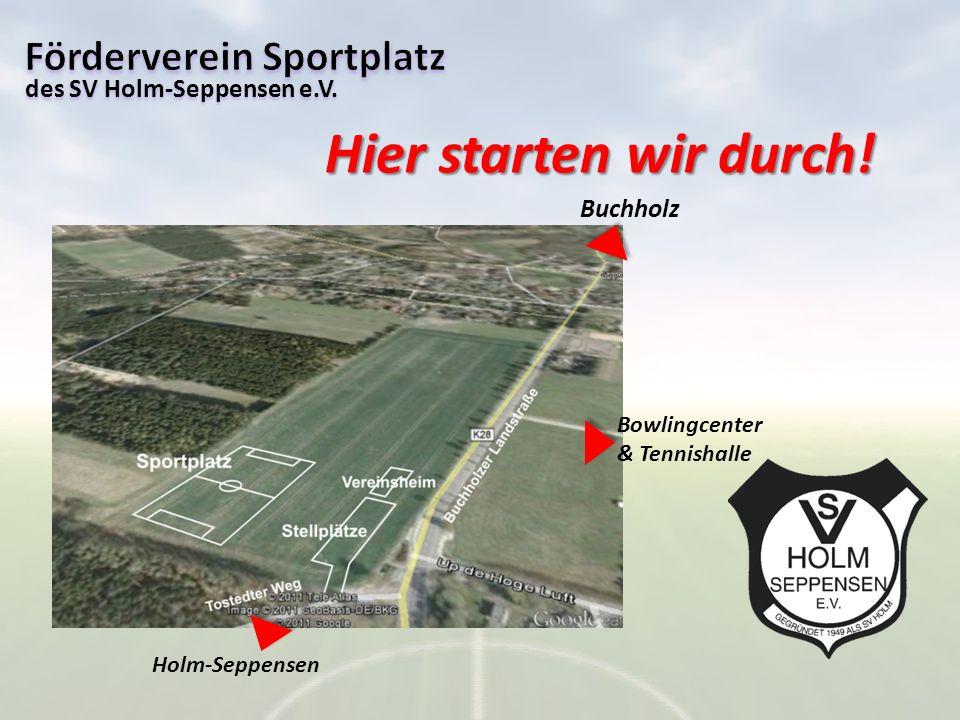 Hier starten wir durch! Förderverein Sportplatz