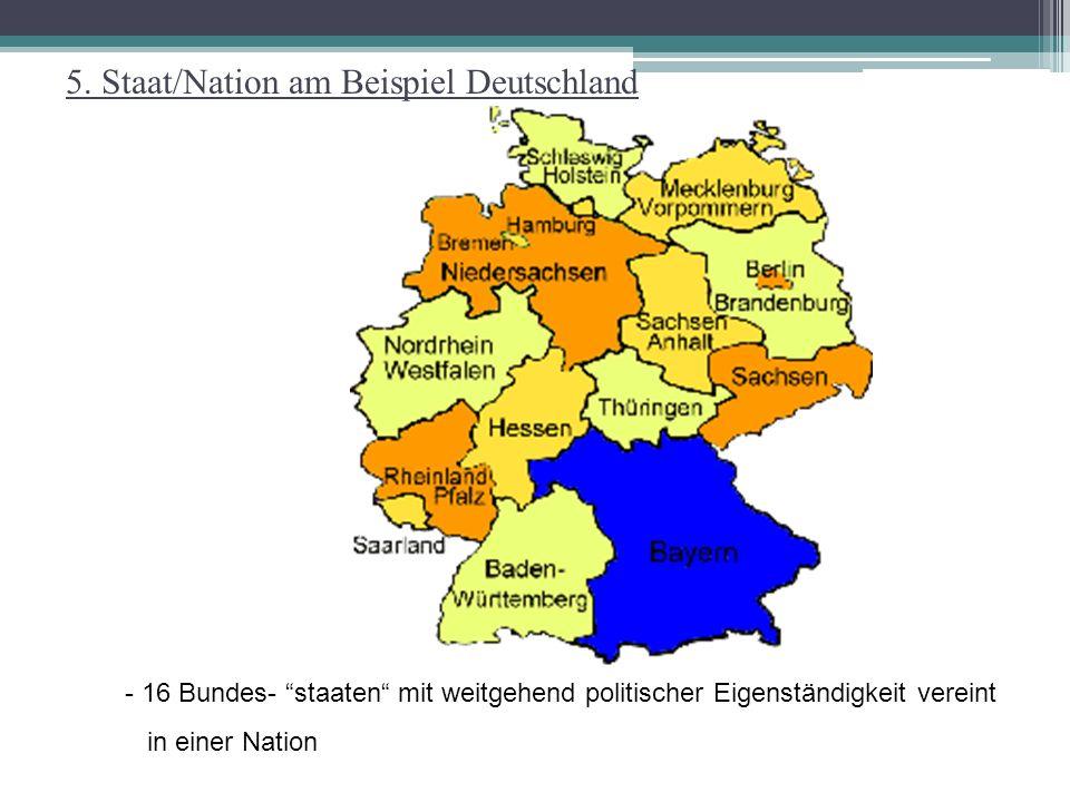 5. Staat/Nation am Beispiel Deutschland