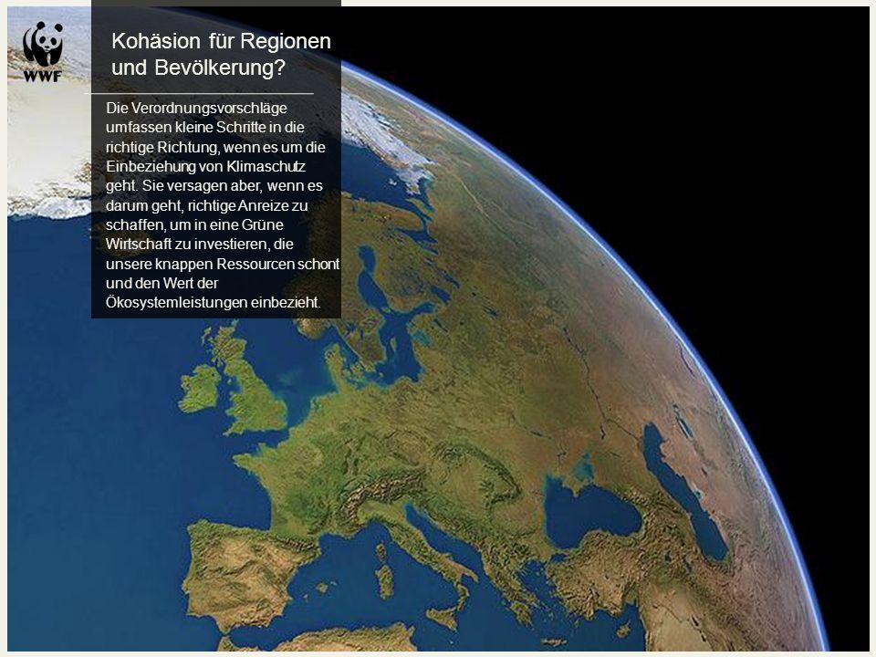 Kohäsion für Regionen und Bevölkerung