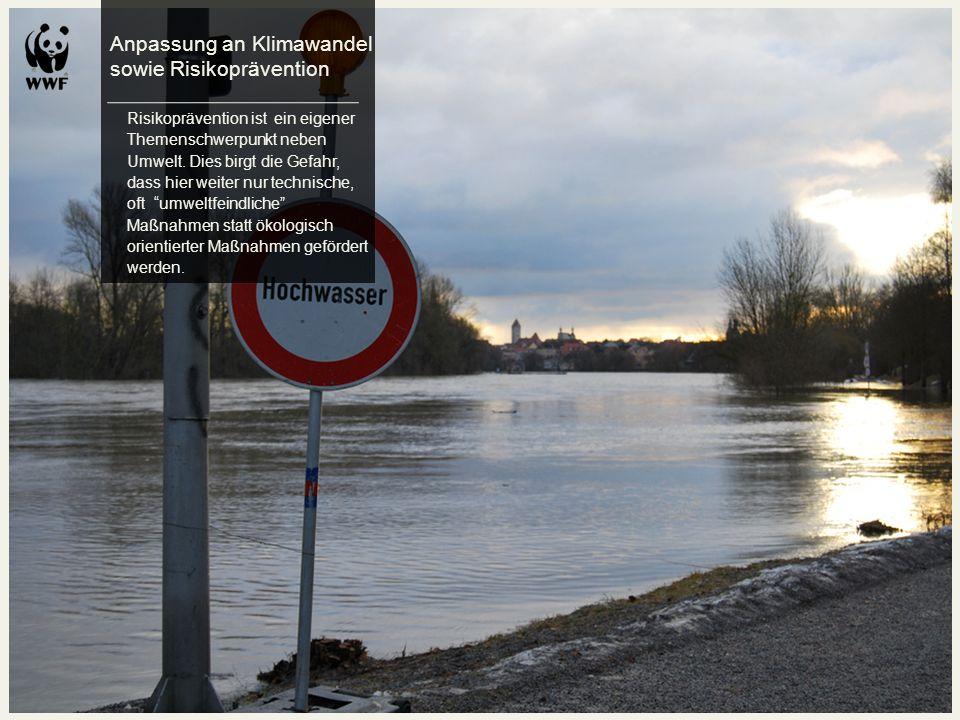 Anpassung an Klimawandel sowie Risikoprävention
