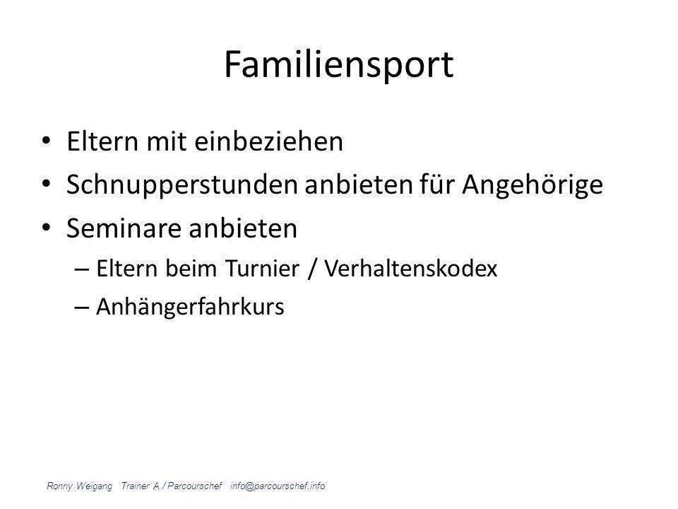Familiensport Eltern mit einbeziehen