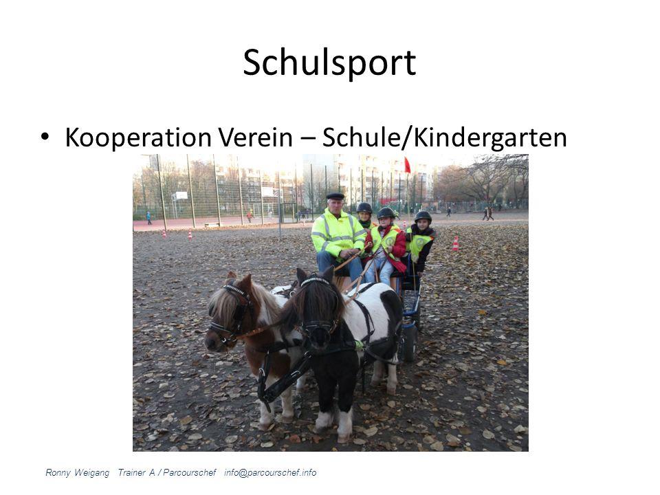 Schulsport Kooperation Verein – Schule/Kindergarten